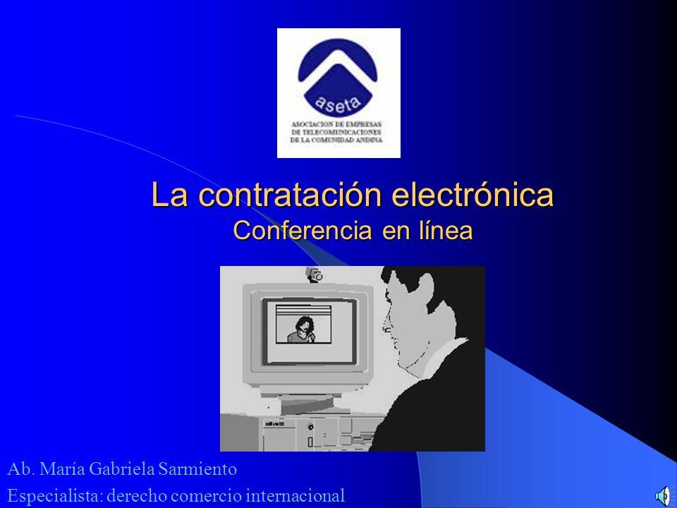 La contratación electrónica Conferencia en línea