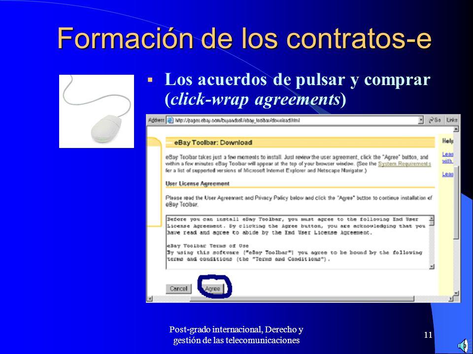 Formación de los contratos-e
