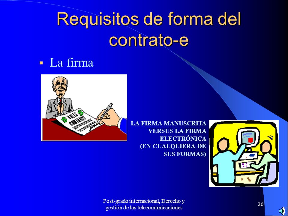Requisitos de forma del contrato-e