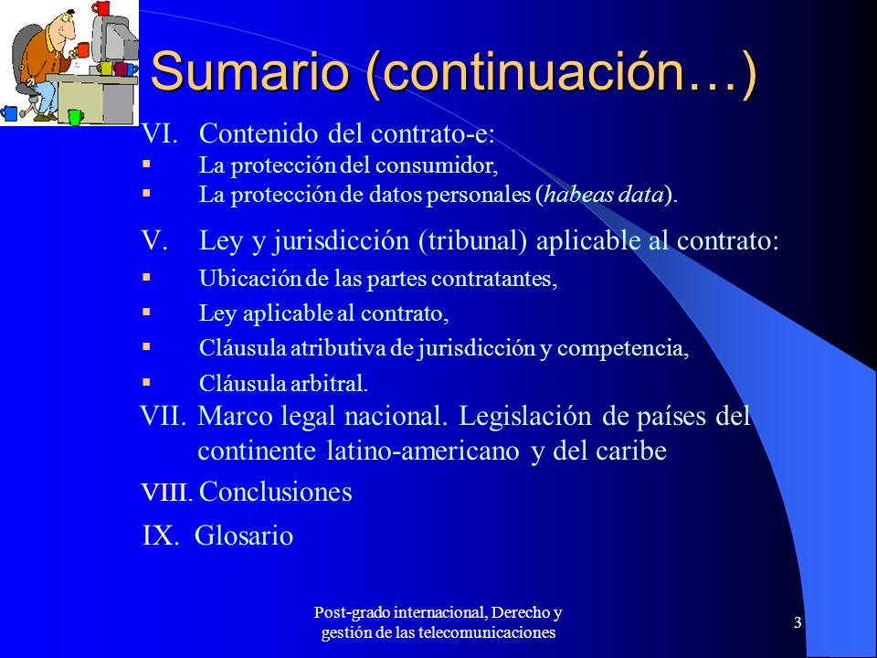 Sumario (continuación…)