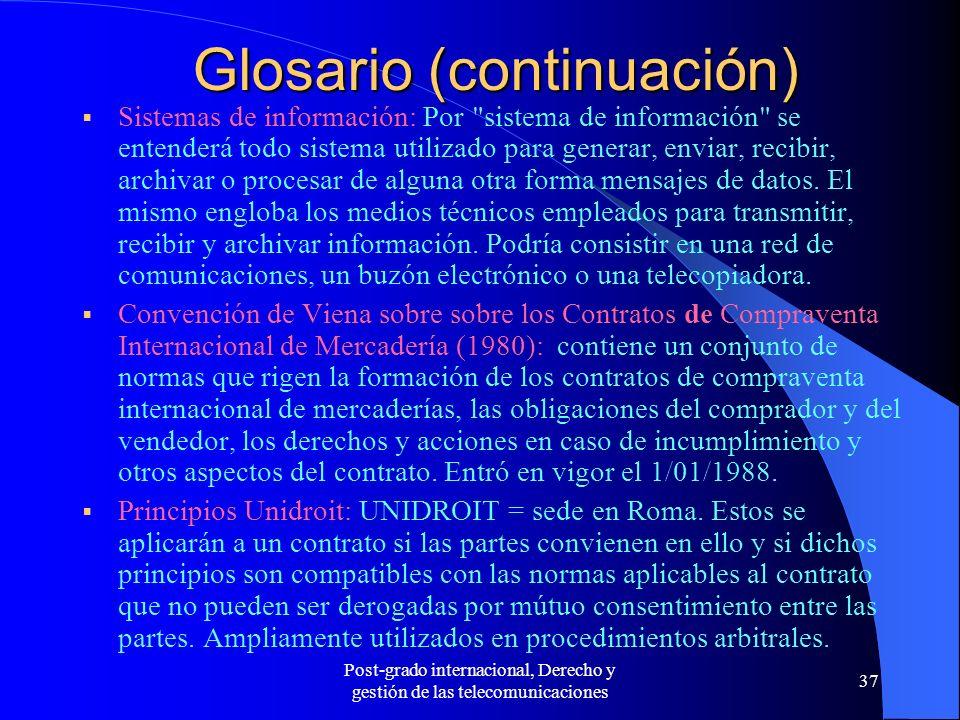 Glosario (continuación)