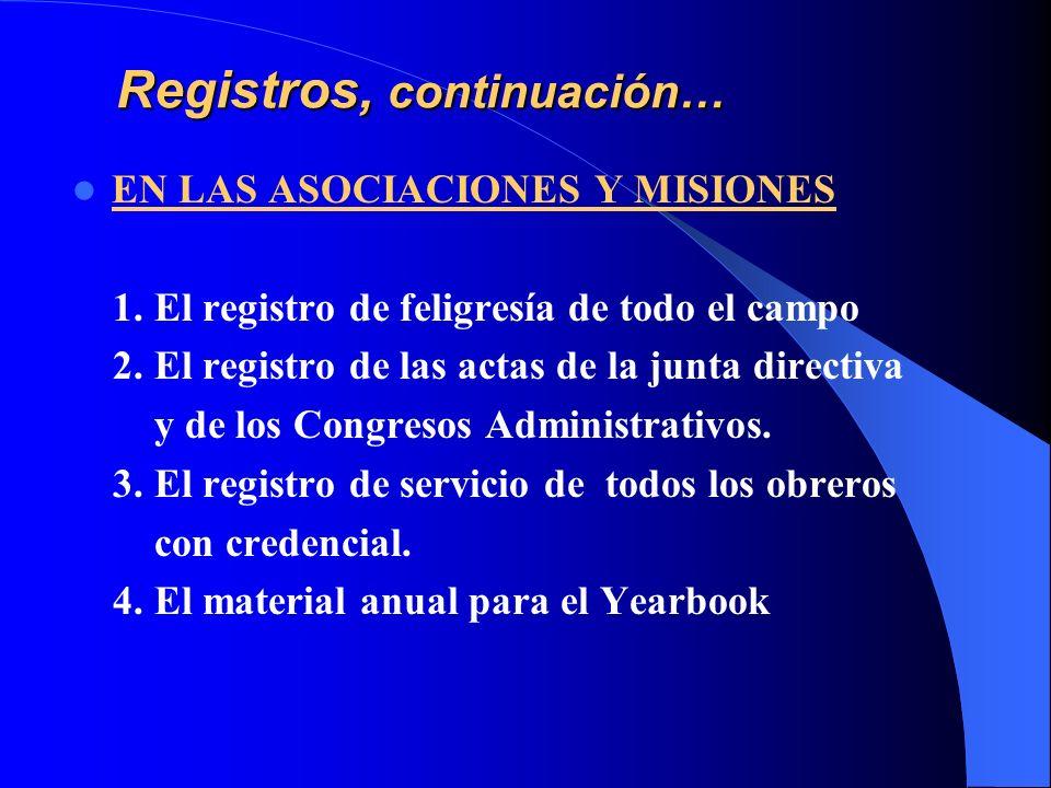 Registros, continuación…