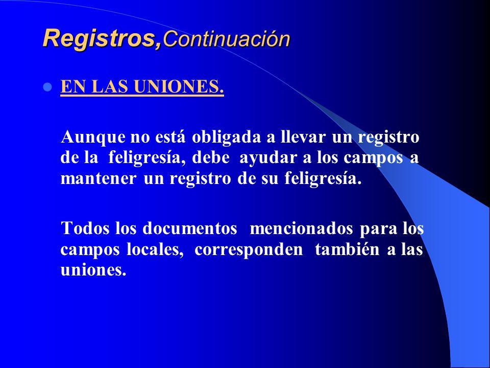 Registros,Continuación