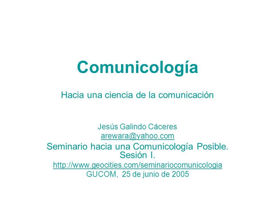 Comunicología Hacia una ciencia de la comunicación