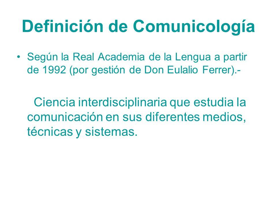 Definición de Comunicología