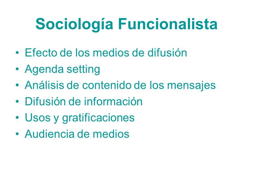 Sociología Funcionalista