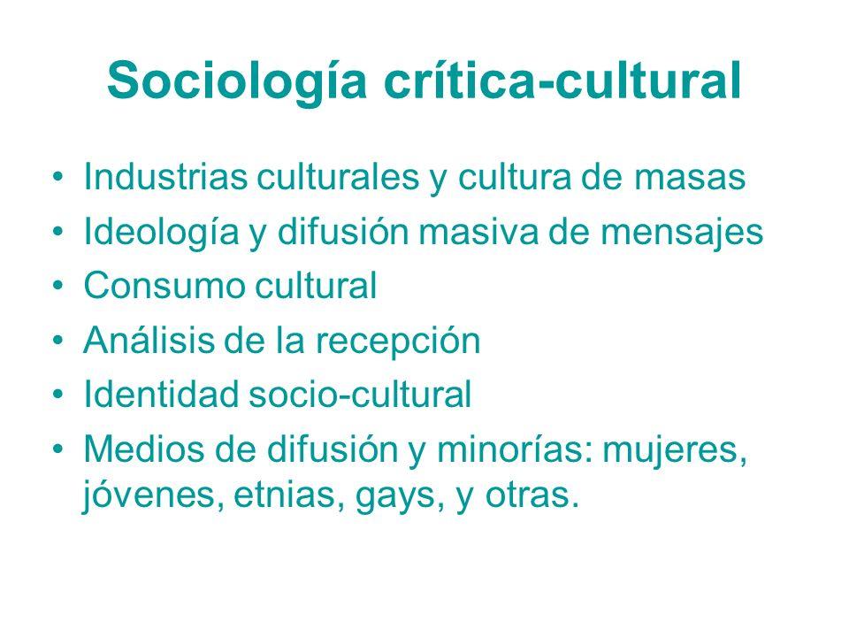 Sociología crítica-cultural