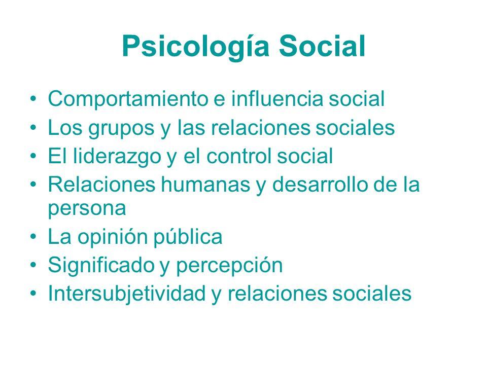 Psicología Social Comportamiento e influencia social