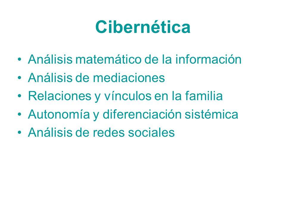 Cibernética Análisis matemático de la información