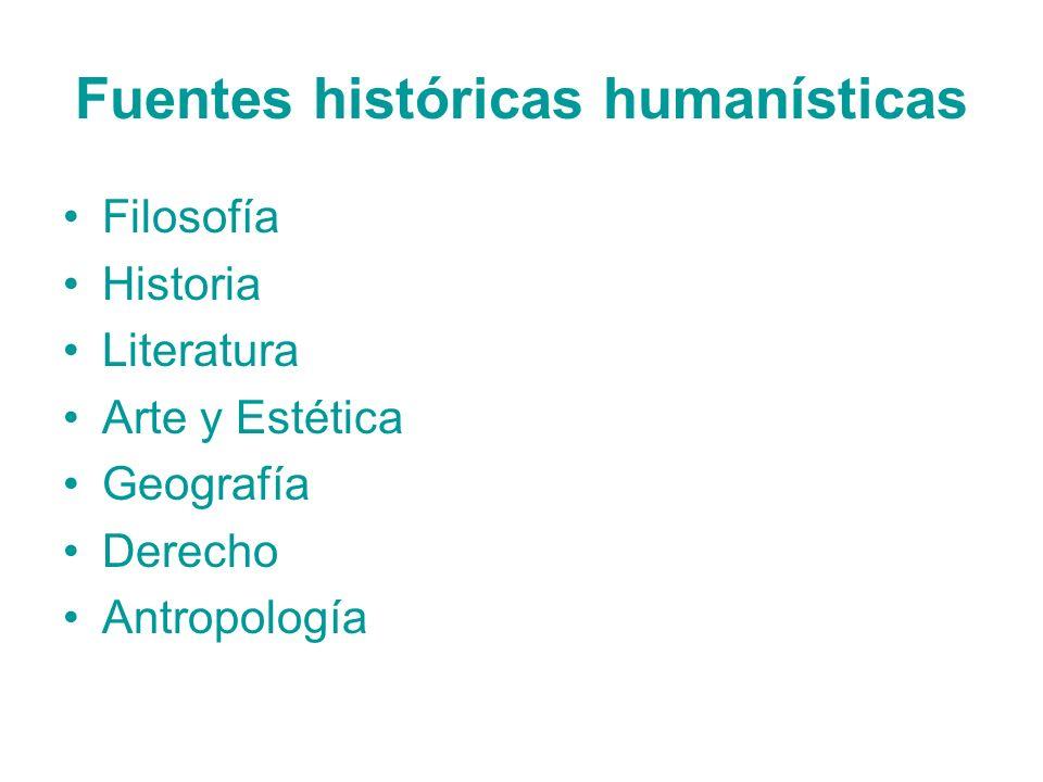 Fuentes históricas humanísticas