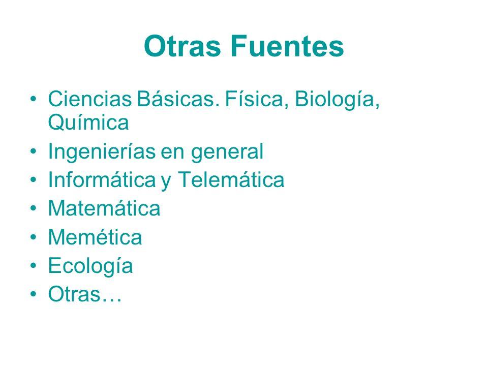 Otras Fuentes Ciencias Básicas. Física, Biología, Química