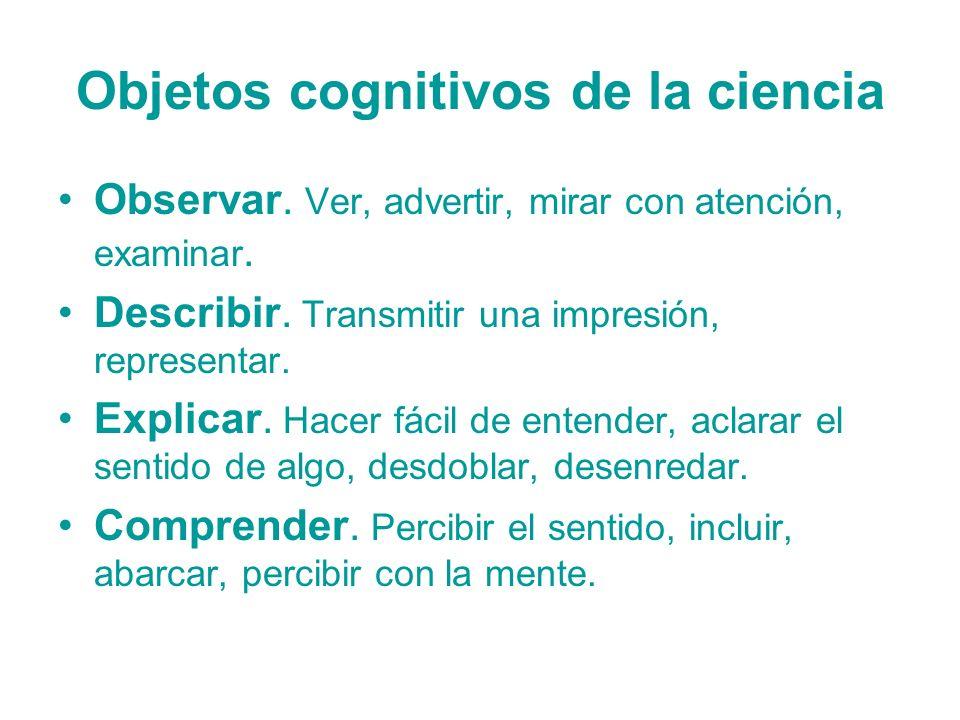 Objetos cognitivos de la ciencia
