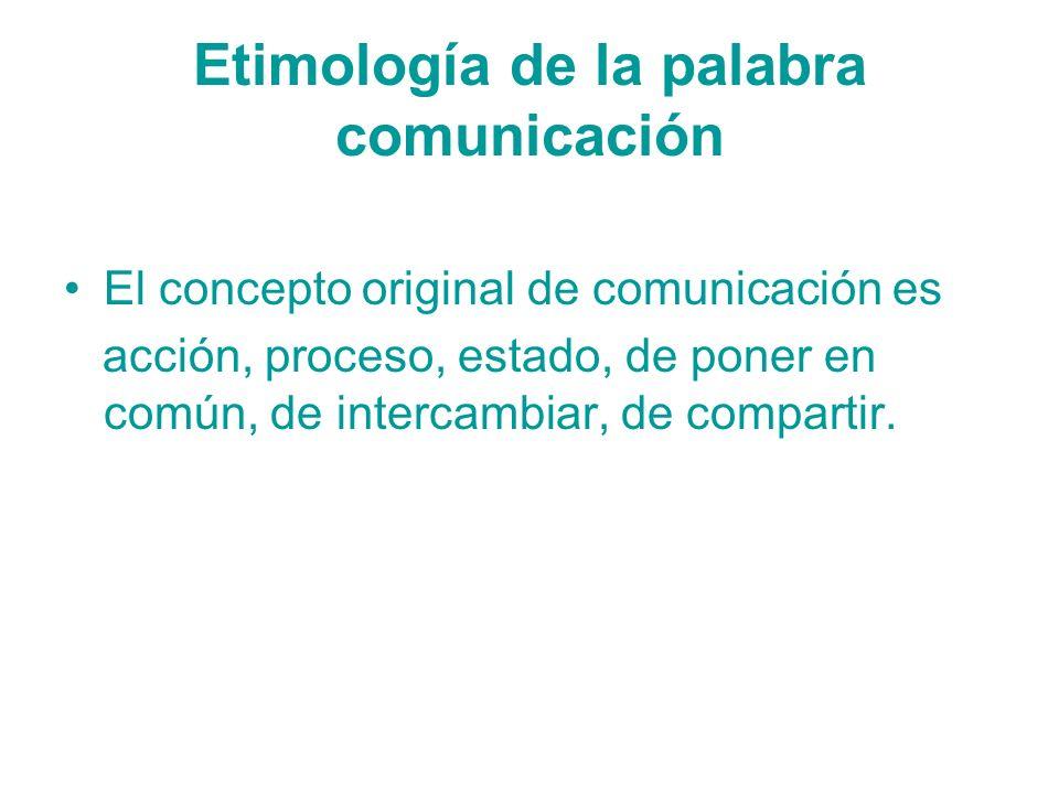 Etimología de la palabra comunicación