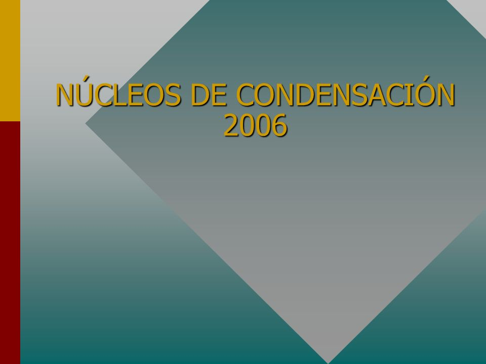 NÚCLEOS DE CONDENSACIÓN 2006