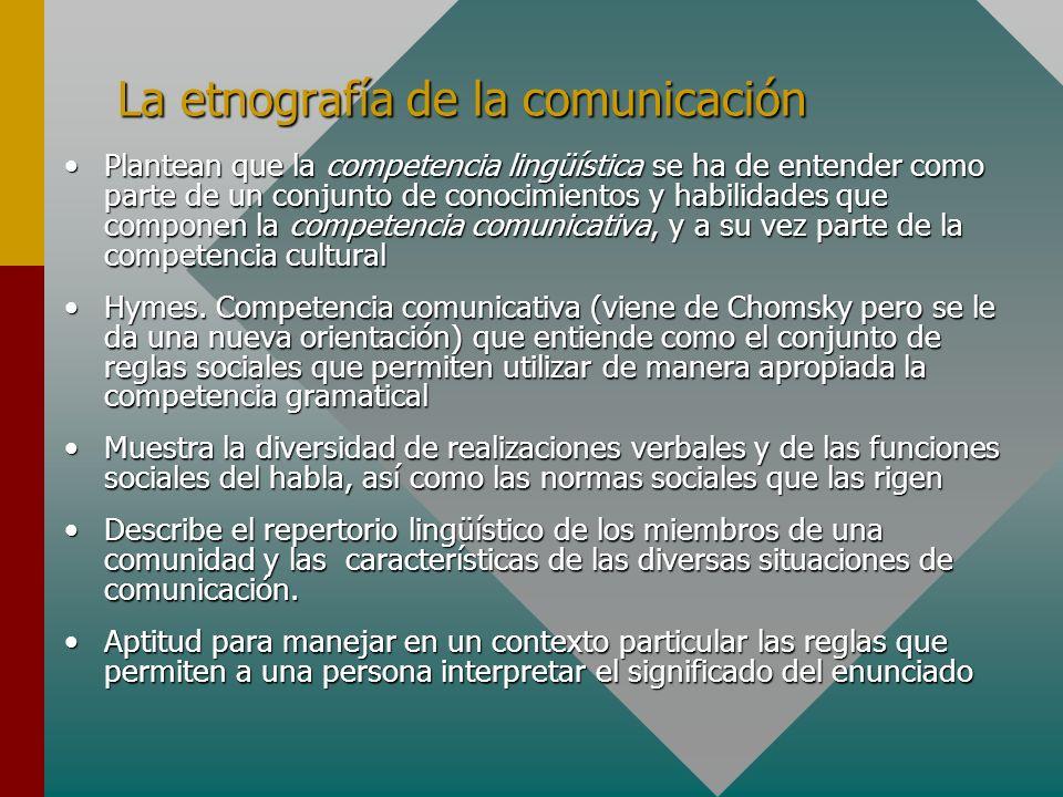 La etnografía de la comunicación