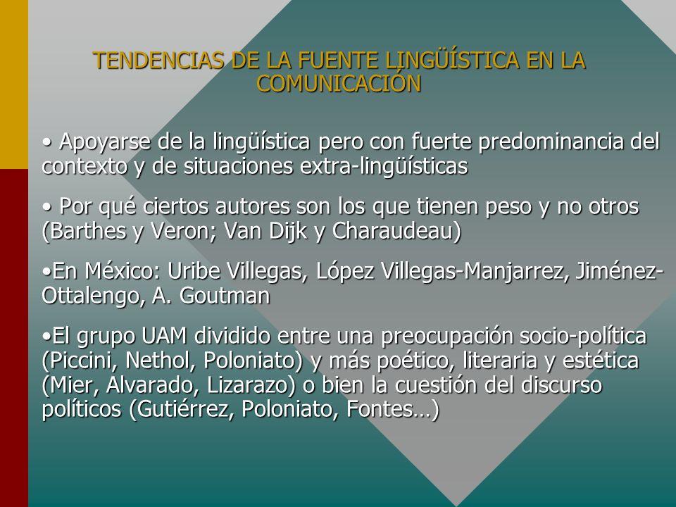 TENDENCIAS DE LA FUENTE LINGÜÍSTICA EN LA COMUNICACIÓN