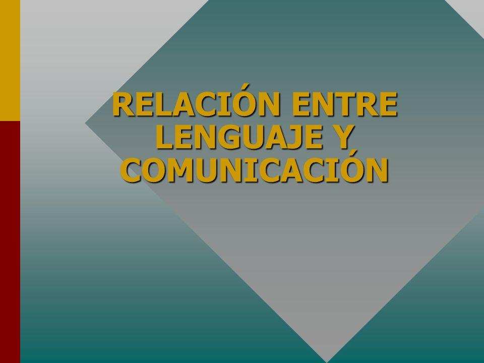 RELACIÓN ENTRE LENGUAJE Y COMUNICACIÓN