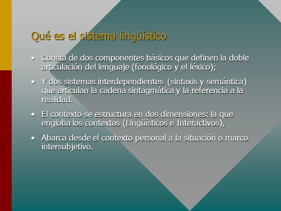 Qué es el sistema lingüístico