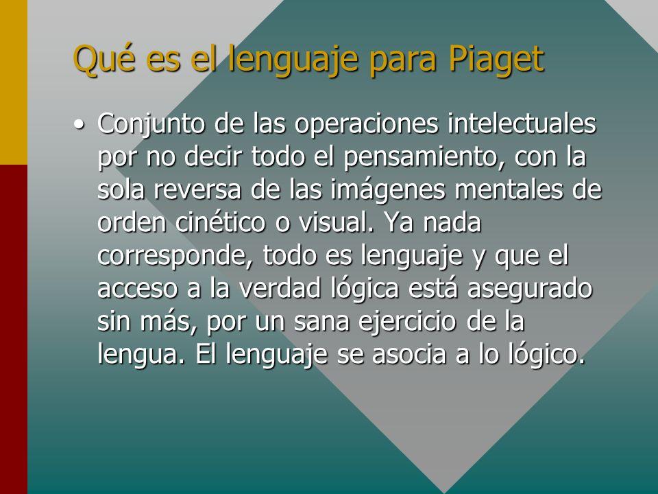 Qué es el lenguaje para Piaget