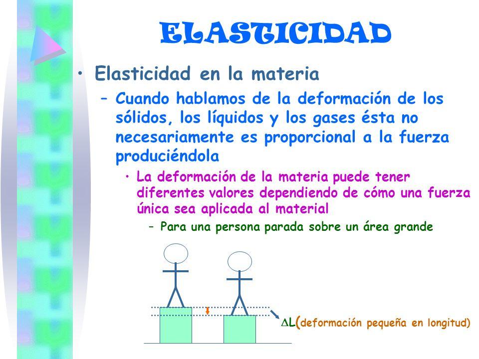 ELASTICIDAD Elasticidad en la materia