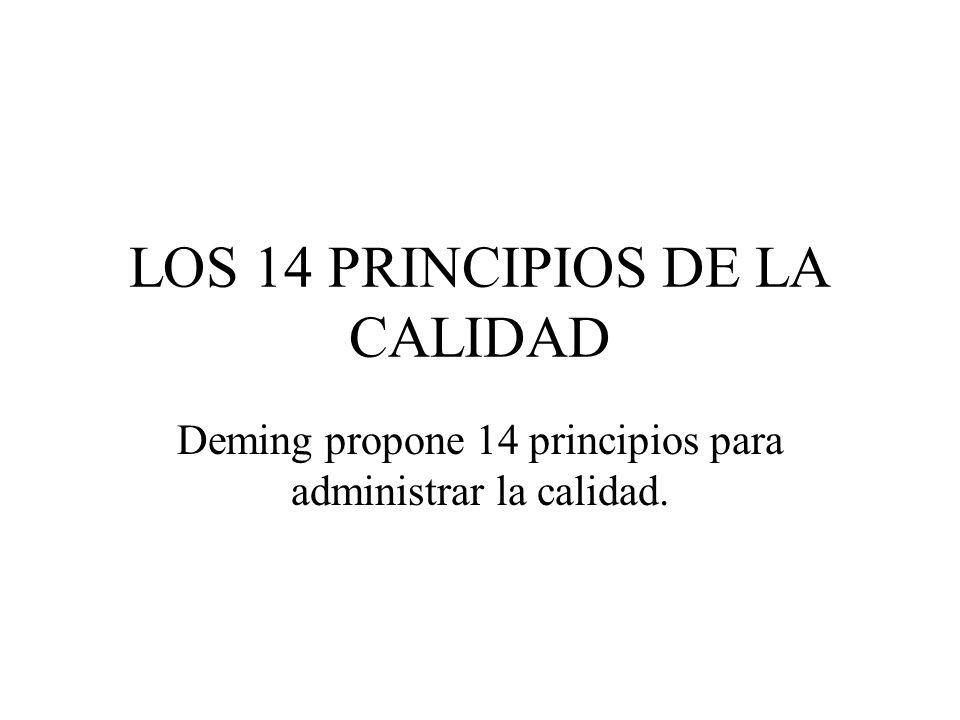 LOS 14 PRINCIPIOS DE LA CALIDAD