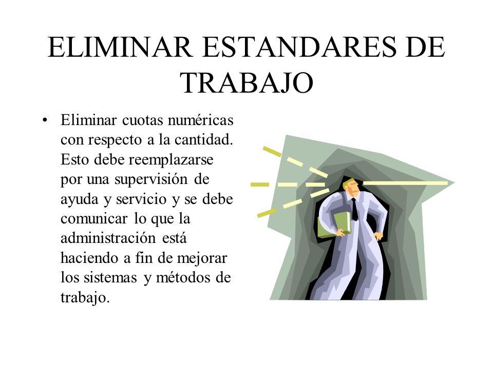 ELIMINAR ESTANDARES DE TRABAJO