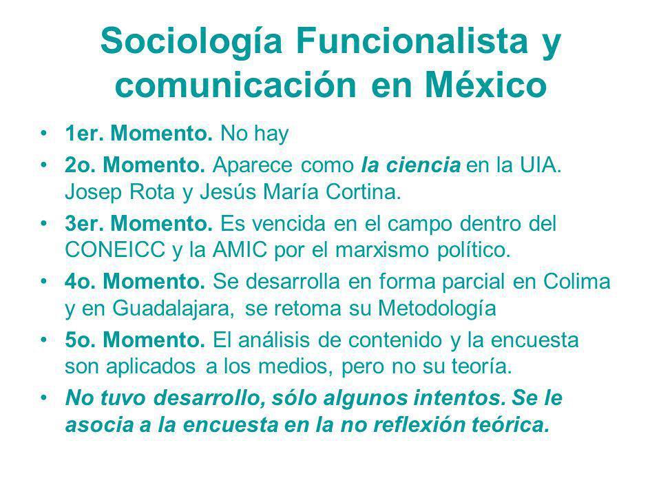 Sociología Funcionalista y comunicación en México