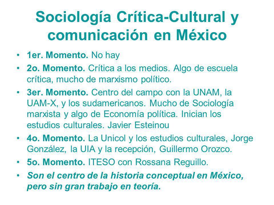 Sociología Crítica-Cultural y comunicación en México