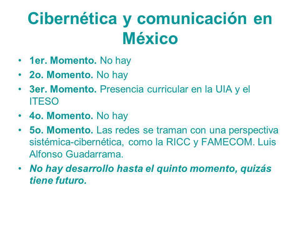 Cibernética y comunicación en México