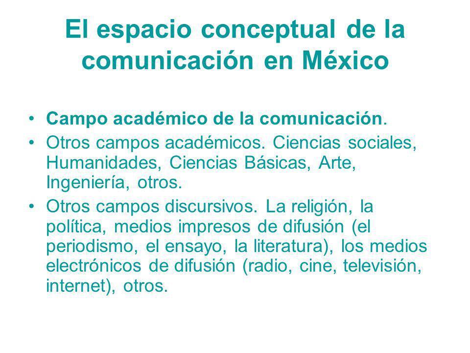 El espacio conceptual de la comunicación en México