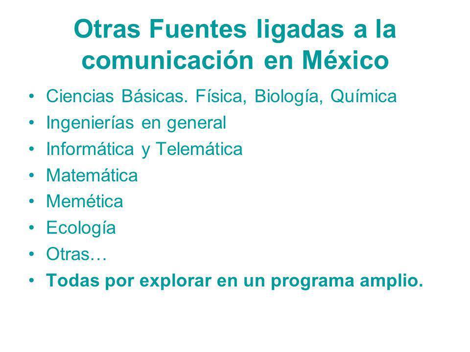 Otras Fuentes ligadas a la comunicación en México