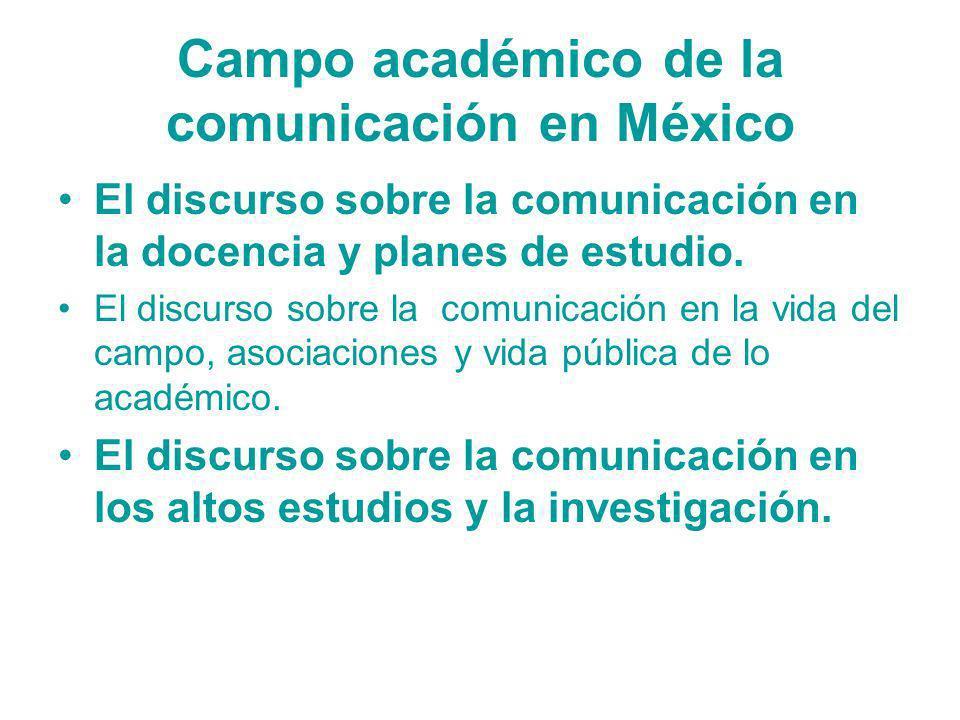 Campo académico de la comunicación en México