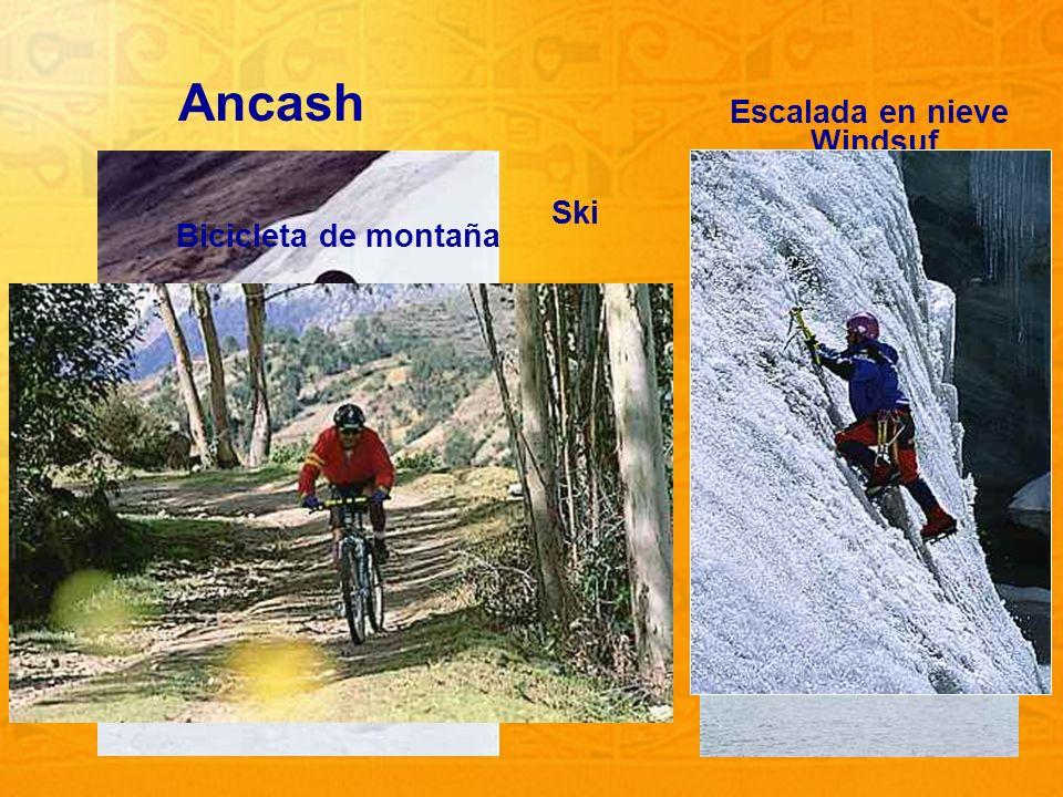 Ancash Escalada en nieve Windsuf Ski Bicicleta de montaña