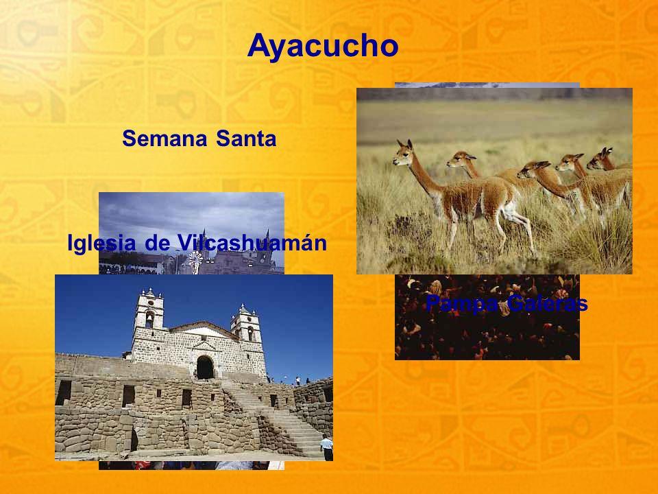 Ayacucho Semana Santa Pampa Galeras Iglesia de Vilcashuamán