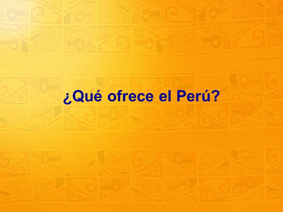 ¿Qué ofrece el Perú
