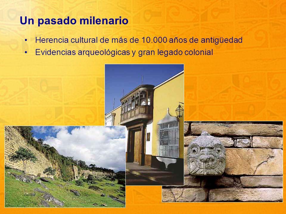 Un pasado milenario Herencia cultural de más de 10.000 años de antigüedad.
