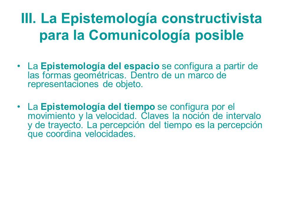 III. La Epistemología constructivista para la Comunicología posible