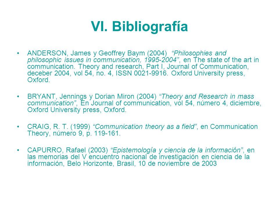 VI. Bibliografía