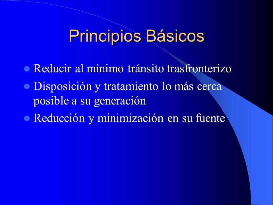 Principios Básicos Reducir al mínimo tránsito trasfronterizo