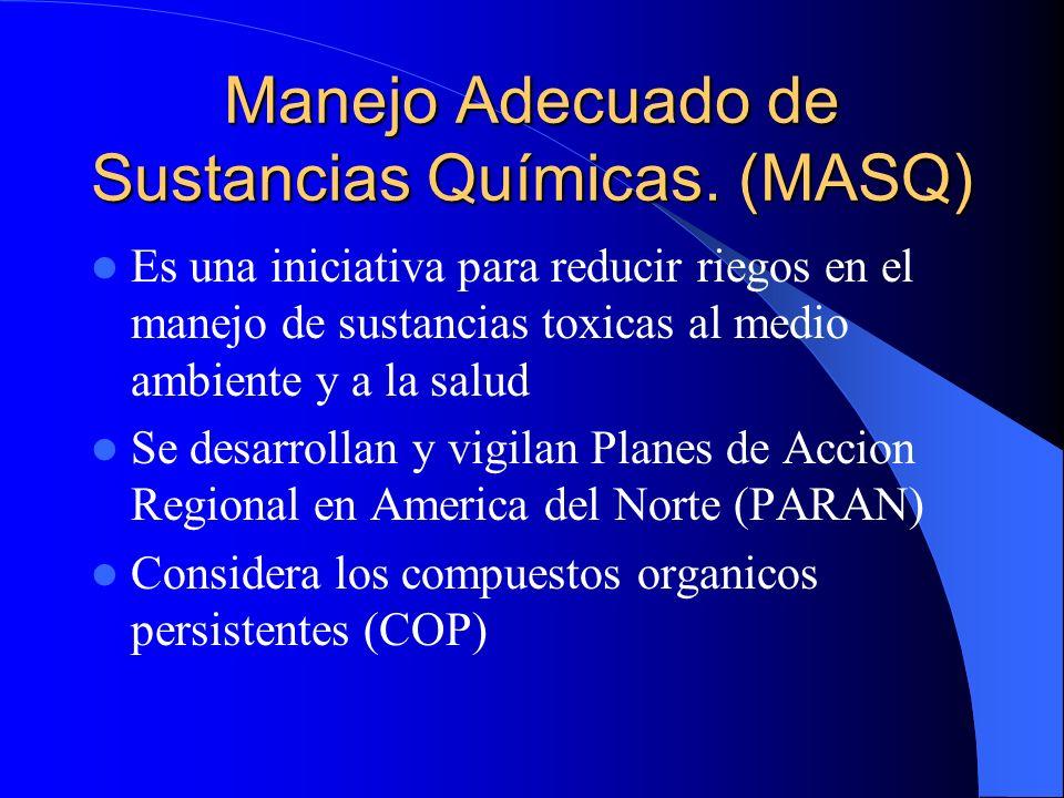 Manejo Adecuado de Sustancias Químicas. (MASQ)