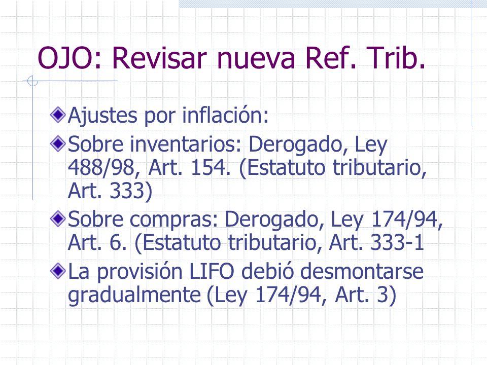 OJO: Revisar nueva Ref. Trib.