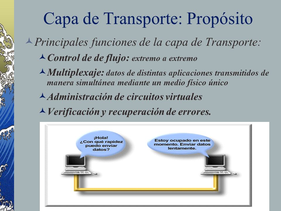 Capa de Transporte: Propósito