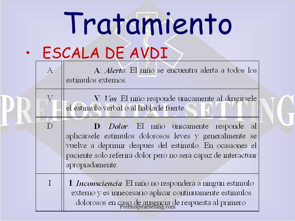 Tratamiento ESCALA DE AVDI PreHospitalSetting.com
