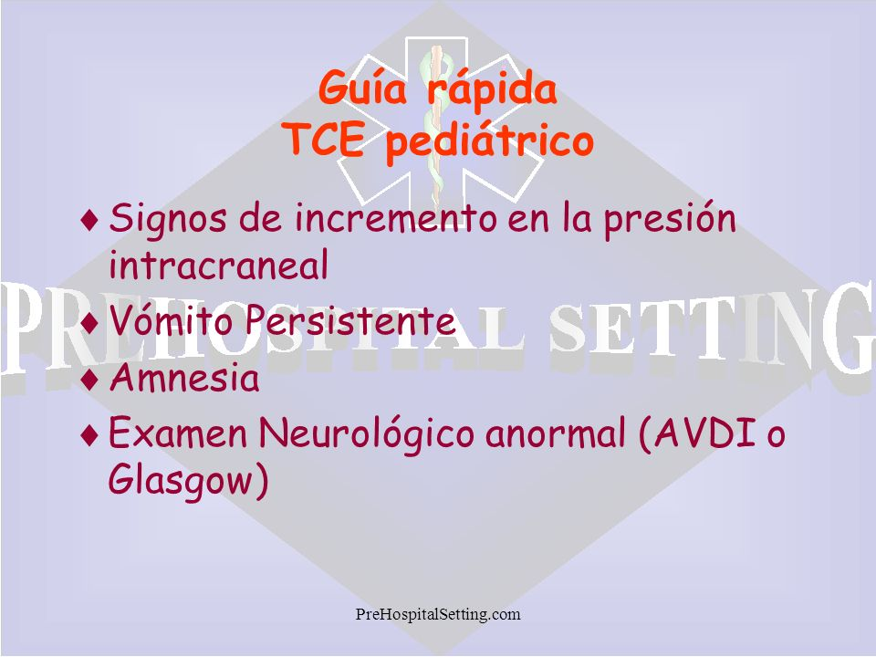 Guía rápida TCE pediátrico