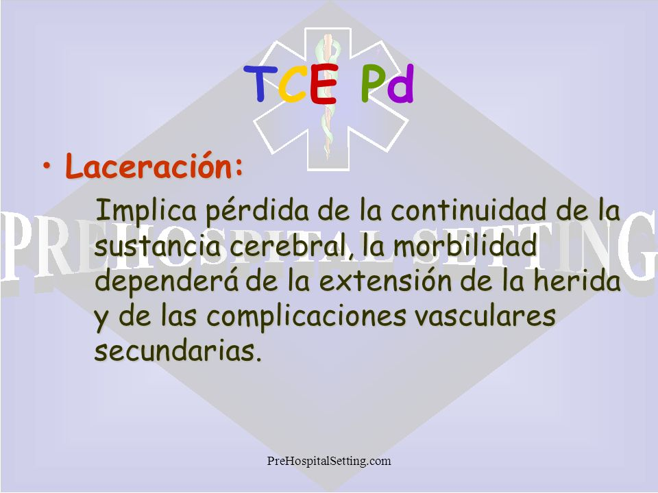 TCE Pd Laceración: