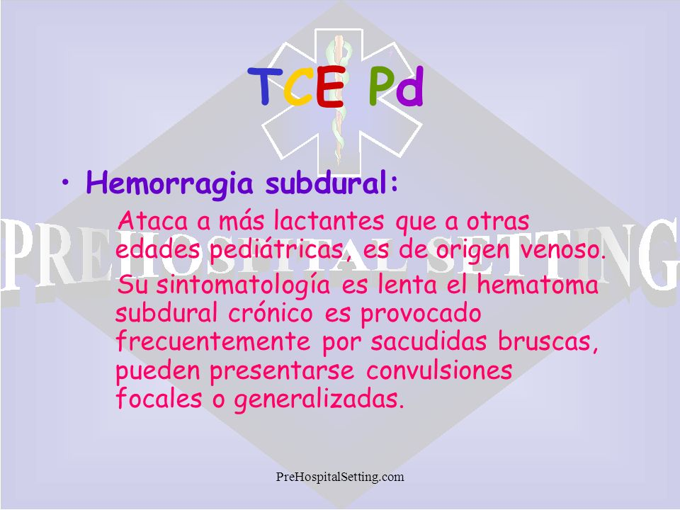 TCE Pd Hemorragia subdural: