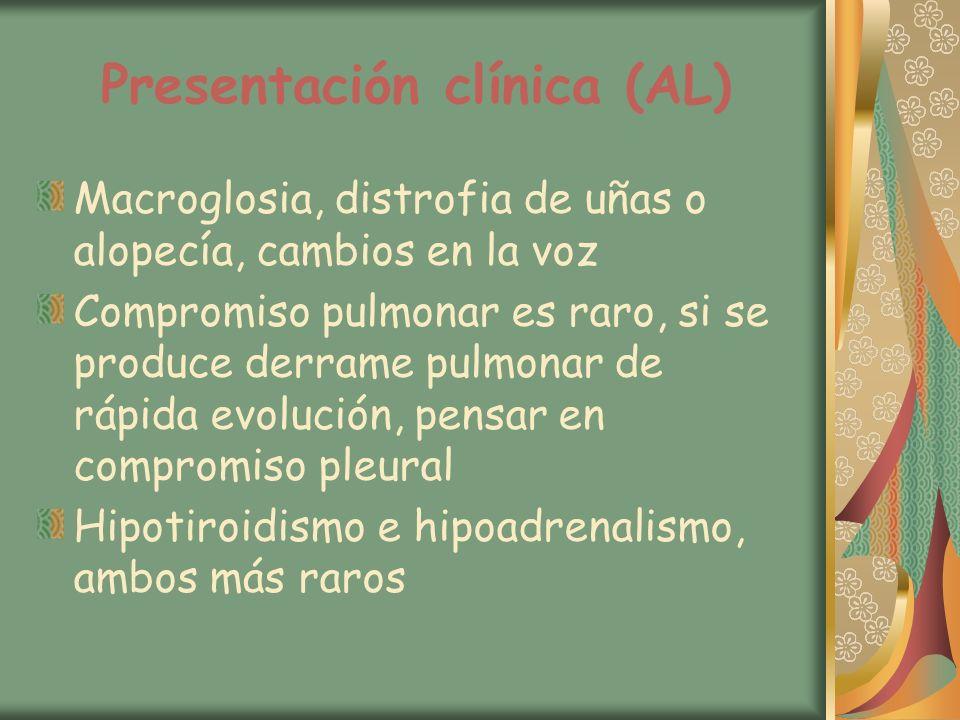 Presentación clínica (AL)