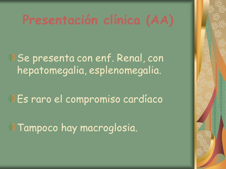 Presentación clínica (AA)