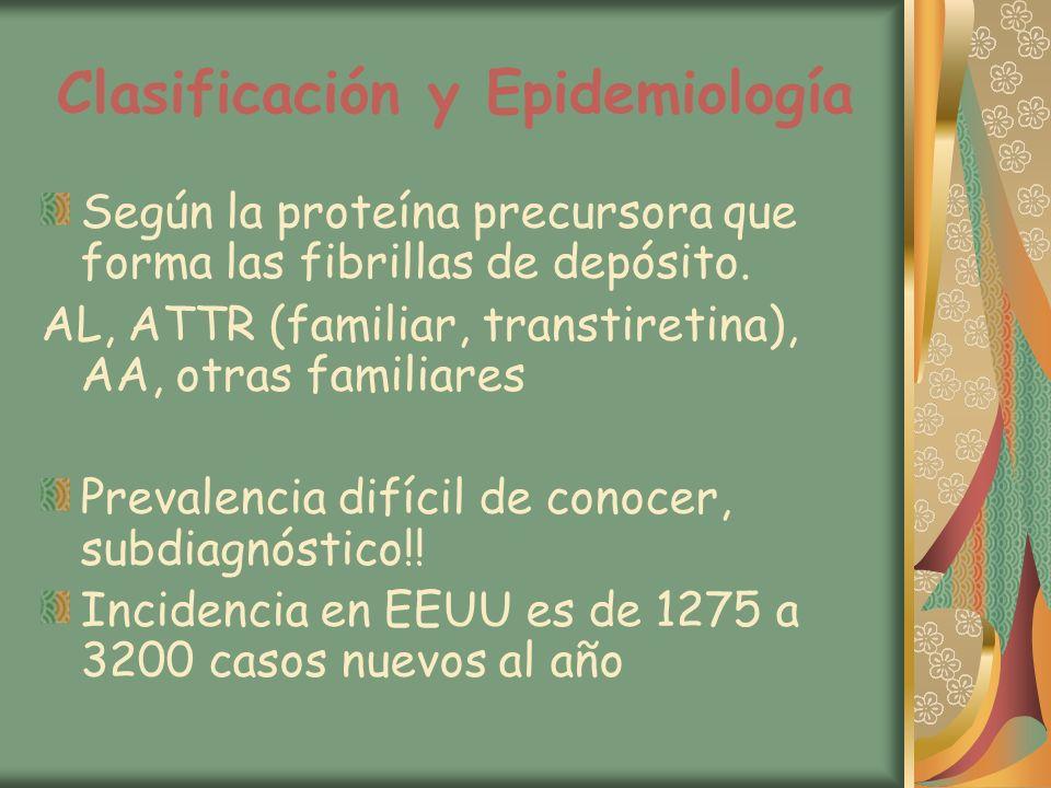 Clasificación y Epidemiología