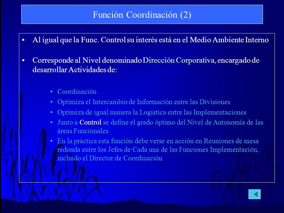 Función Coordinación (2)